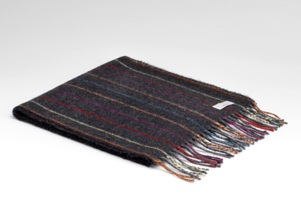 McNutt of Donegal Charcoal Rainbow Scarf
