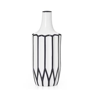 "Torre & Tagus ABSTRACT 12"" LINEAR OUTLINE VASE"