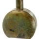 Aged Brass Flask Vase - S