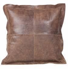 "Auskin Vintage Brown Cowhide 20"" Cushion"