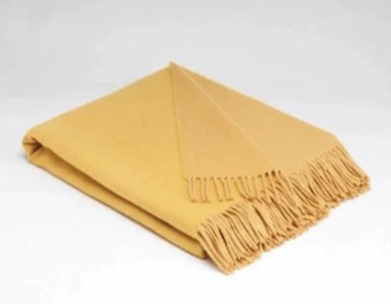 McNutt of Donegal Irish Linen Throw - Golden Sun