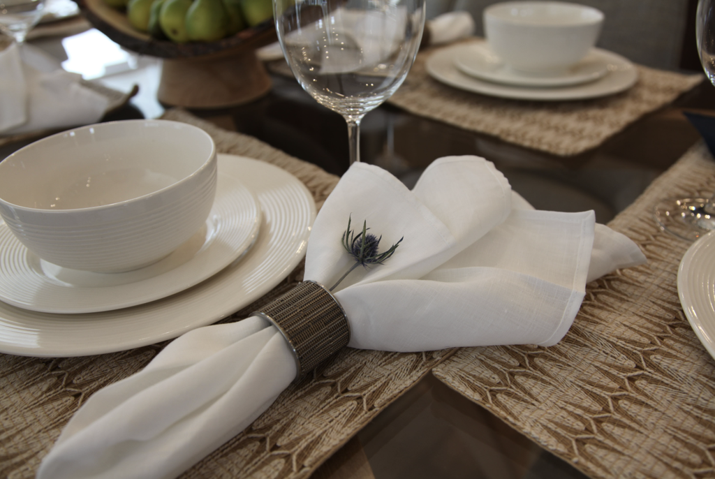 Chilewich Chilewich Bamboo Wide Stainless Steel Napkin Ring in Dune