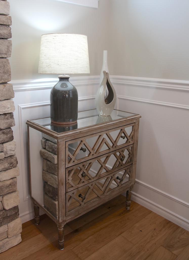 Mercana Harlowe ll 3 Drawer Storage Cabinet with Mirror
