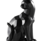 Torre & Tagus Carved Angle Sitting Cat Decor Sculpture - Black