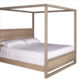 Woodworks Sydney Queen Canopy Bed - Maple