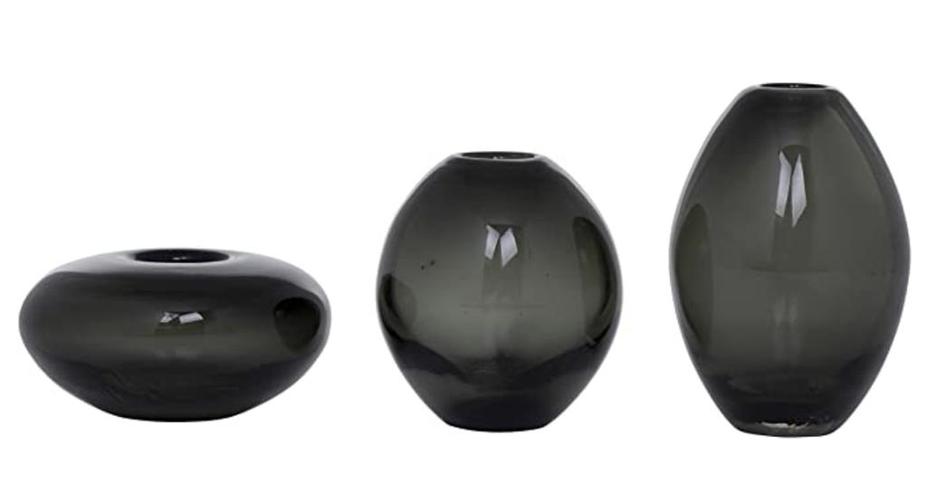 Torre & Tagus MIni Lustre Smoke Vases