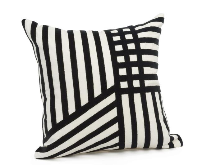 Bovi Homes Eugene Emb Cushion Cover - Off White/Black
