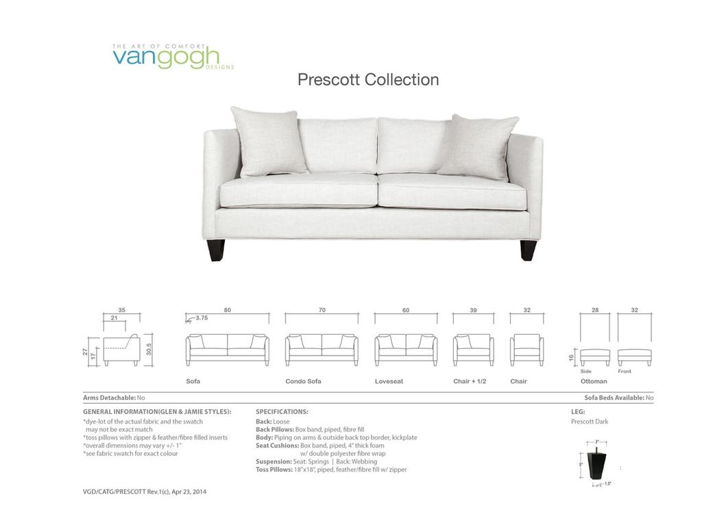 Van Gogh Prescott Condo Sofa