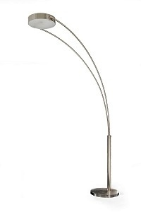 "Arched Lamp with sturdy chrome base. 12""Dia x 78""H"
