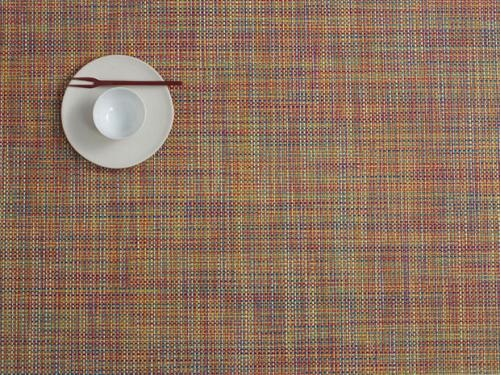 Chilewich Mini Basketweave placemats and runners are suitable for indoor and outdoor use.