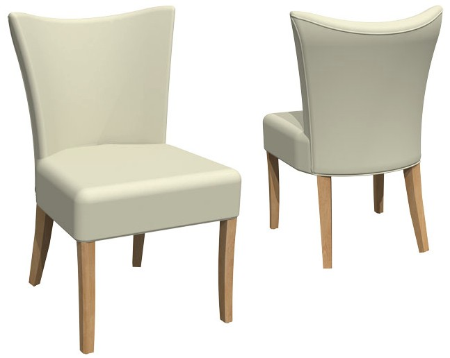 Bermex Chair finished in W. St. Ash and fabric F106