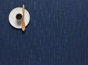 Chilewich Chilewich Bamboo Rectangle Placemat in Lapis