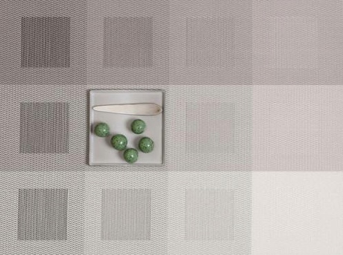Chilewich Chilewich Engineered Square Placemats in Light Grey