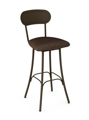 Amisco Bean swivel counter stool with upholestered seat