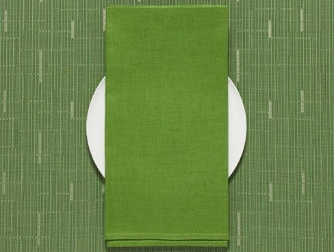 Chilewich Chilewich 100% Linen Napkin - Single Ply - Grass