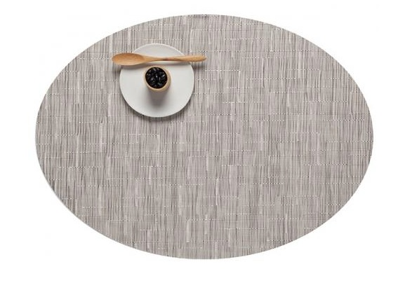 Chilewich Chilewich Bamboo Table Mat Oval - Chalk