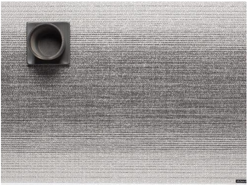 Chilewich Chilewich Ombre Table Mat - Silver