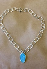 Colleen Blinoff Aquamarine handmade chain necklace