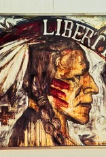"Cristina Acosta Liberty (indian head) 50""x50""x3"""