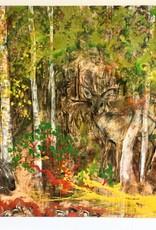 "Cristina Acosta Woodland Forest 48""x48""x3"""