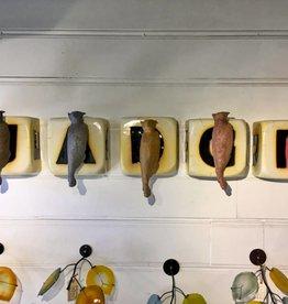 Troy Corliss Chance. ceramic dice & concrete owls 5-set
