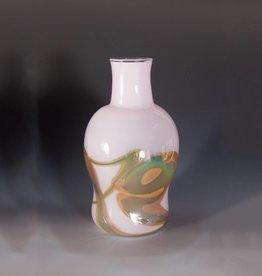 Elin Christopherson Glass Vase smaller w/ Swirls