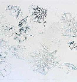 "Troy Corliss Snow Crystals- Intaglio Print- Framed 31.5""x25.5""x2"""
