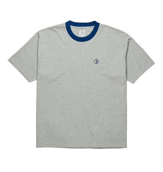 Polar Polar Ringer Tee - Heather Grey/Navy