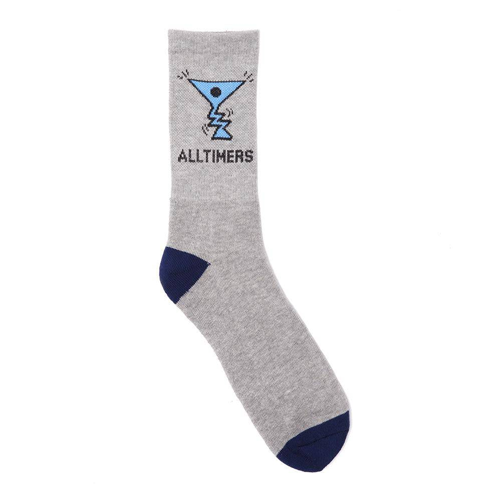Alltimers Alltimers Action Logo Socks - Grey/Navy