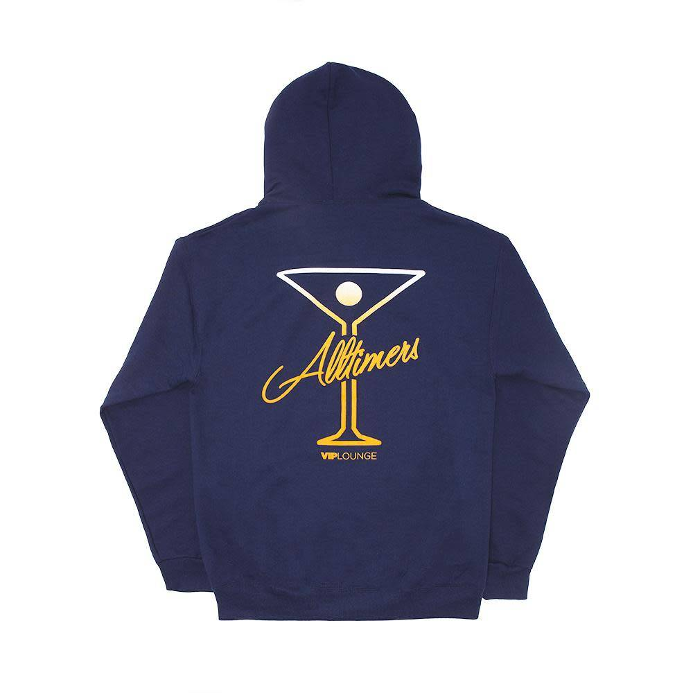 Alltimers Alltimers Puff Classic Logo Hoodie - Navy