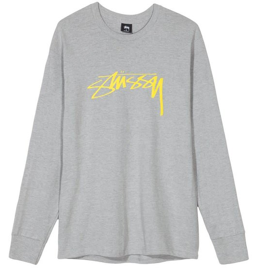 d80654a9878a2 Stussy Stussy Smooth Stock Longsleeve - Grey Heather