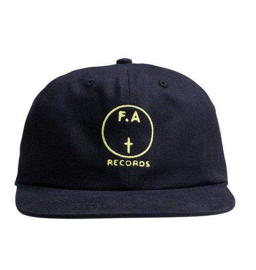Fucking Awesome Fucking Awesome FA Records Hat - Black/Yellow