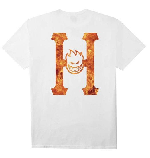 Spitfire Huf Spitfire Flaming H S/S Tee - White