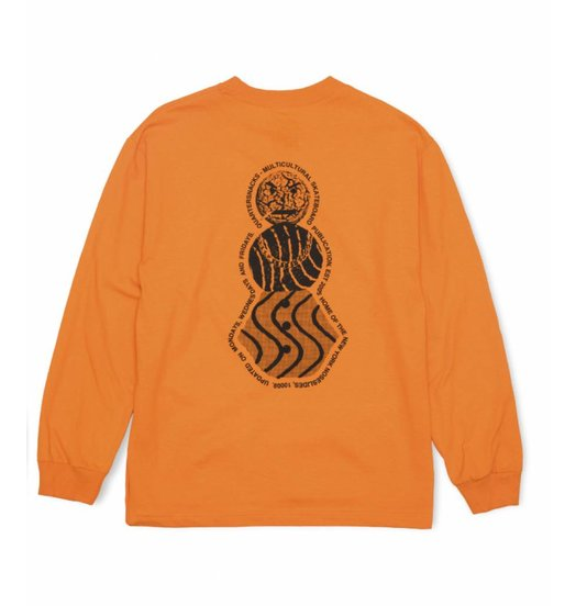 Quartersnacks Quartersnacks Snackman Flyer Longsleeve - Orange