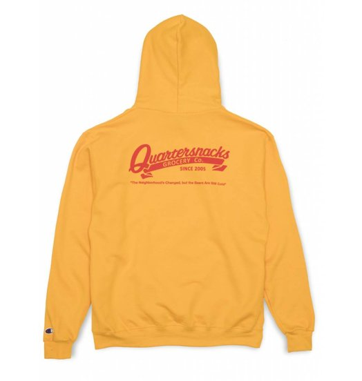 Quartersnacks Quartersnacks Grocery Champion Hoodie - Yellow