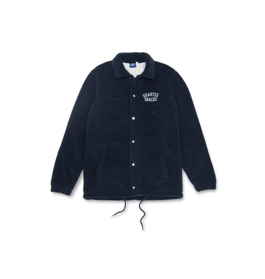 Quartersnacks Quartersnacks Chunky Fleece Coach Jacket - Navy