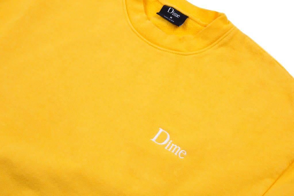 Dime Dime Classic Logo Crewneck - Gold