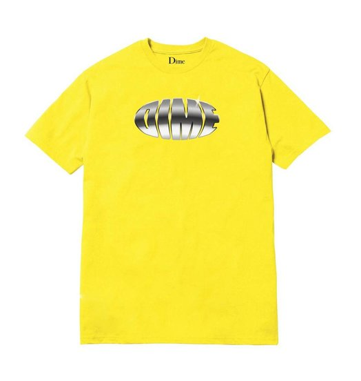 Dime Dime Chrome Tee - Yellow