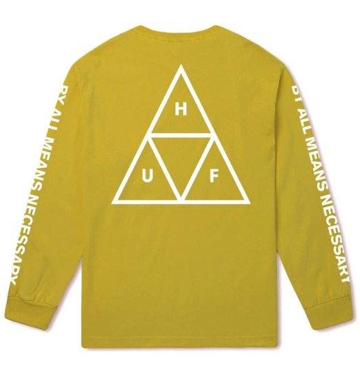 HUF Huf Triple Triangle Longsleeve - Mineral Yellow