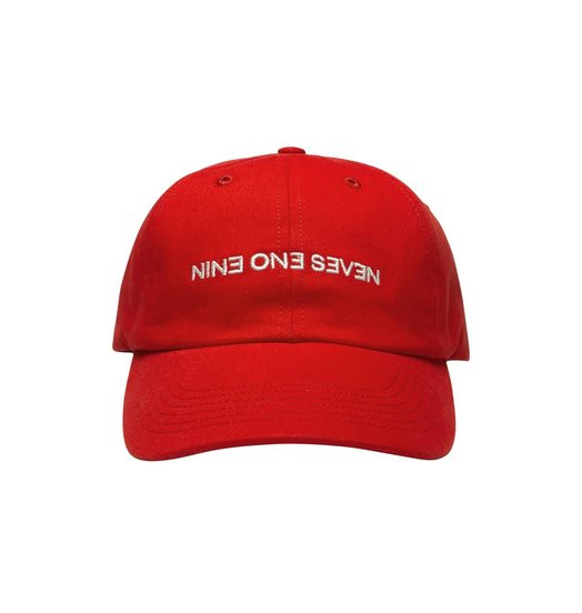 Nine One Seven Call Me 917 Backwards Hat - Red