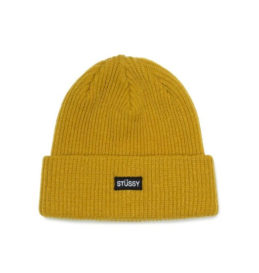 Stussy Stussy Small Patch Watch Cap Beanie - Mustard