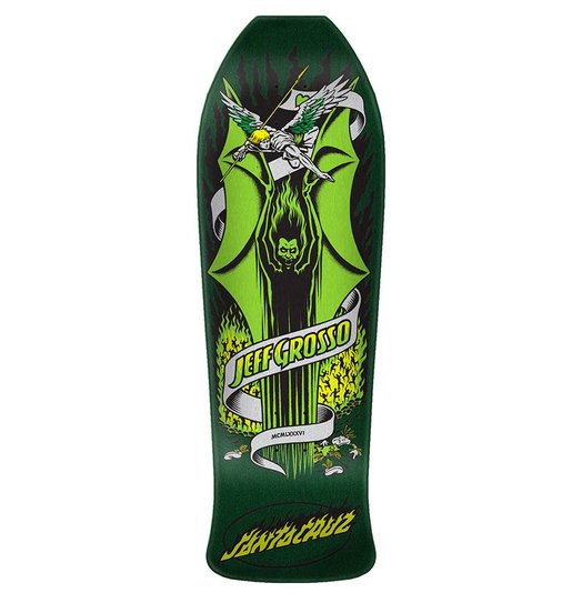 Santa Cruz Santa Cruz Grosso Demon Reissue Deck - Metallic Green
