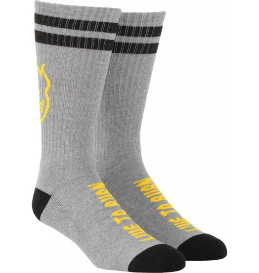 Spitfire Spitfire Heads Up Sock Grey/Yellow/Black