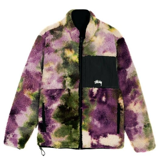 Stussy Stussy Reversible Microfleece Jacket - Tie Dye