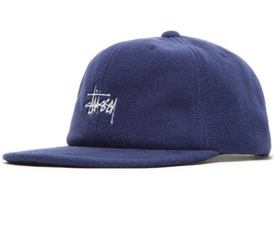 bc0fb33facc82 Stussy Stussy Smooth Stock Polar Fleece Strapback - Navy - Ninetimes Skate  Shop