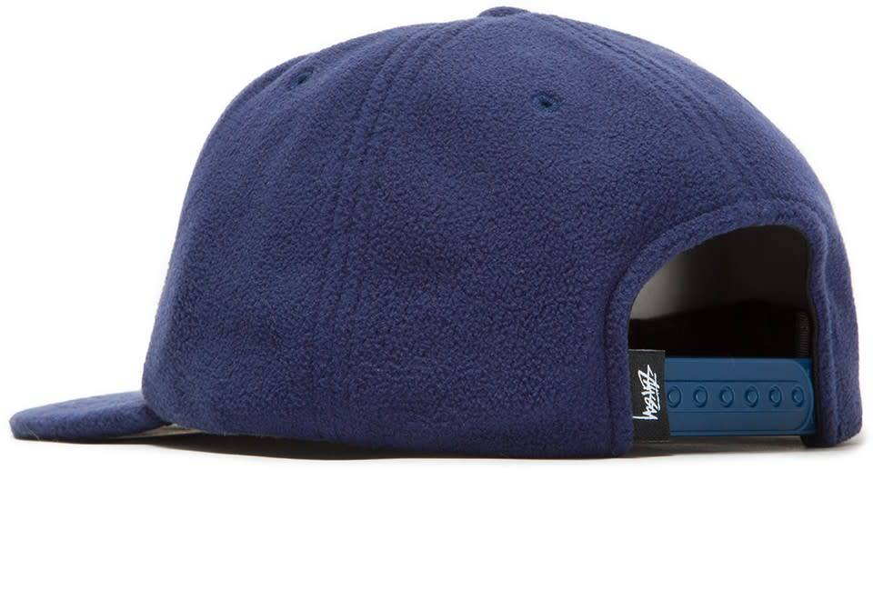 Stussy Stussy Smooth Stock Polar Fleece Strapback - Navy