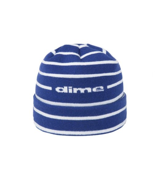 Dime Dime Striped Beanie - Blue