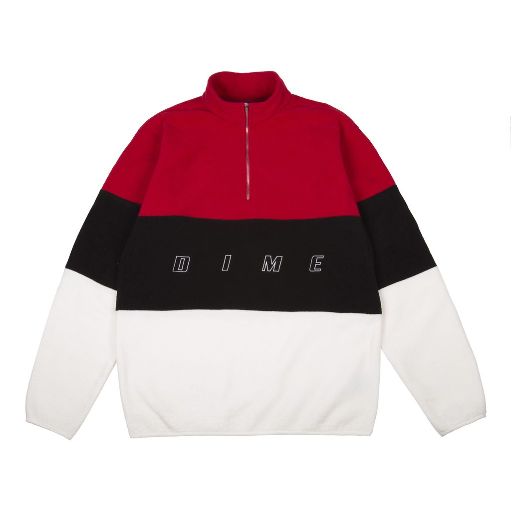 Dime Dime 3 Tone Fleece Pullover - Red