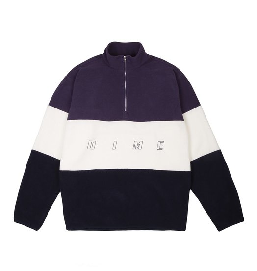 Dime Dime 3 Tone Fleece Pullover - Purple
