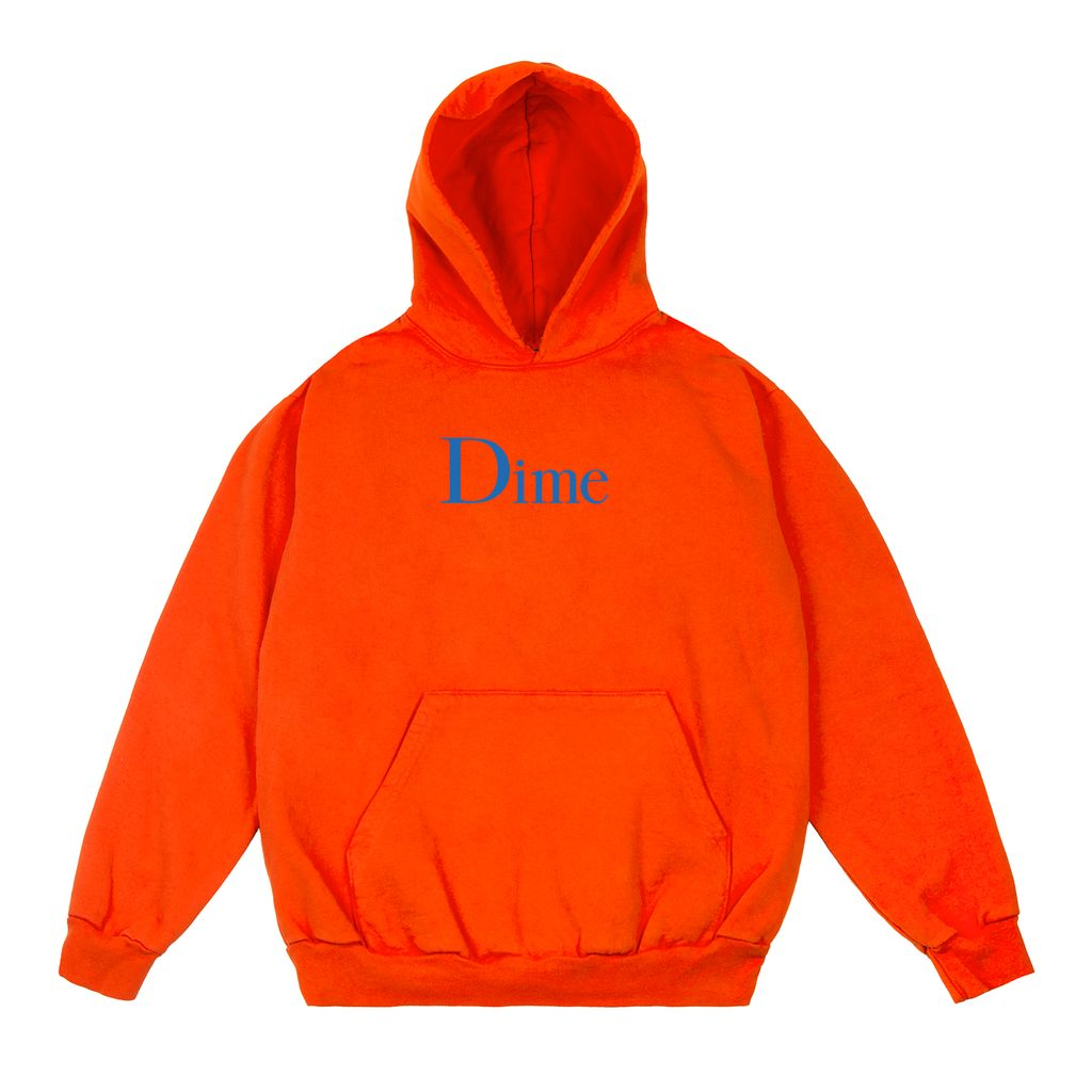 Dime Dime Classic Logo Hoodie - Orange